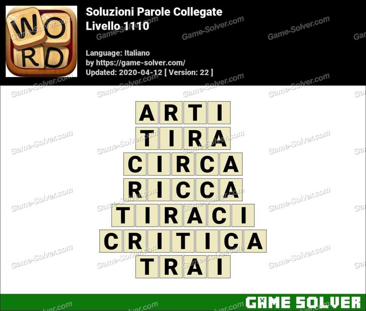 Soluzioni Parole Collegate Livello 1110