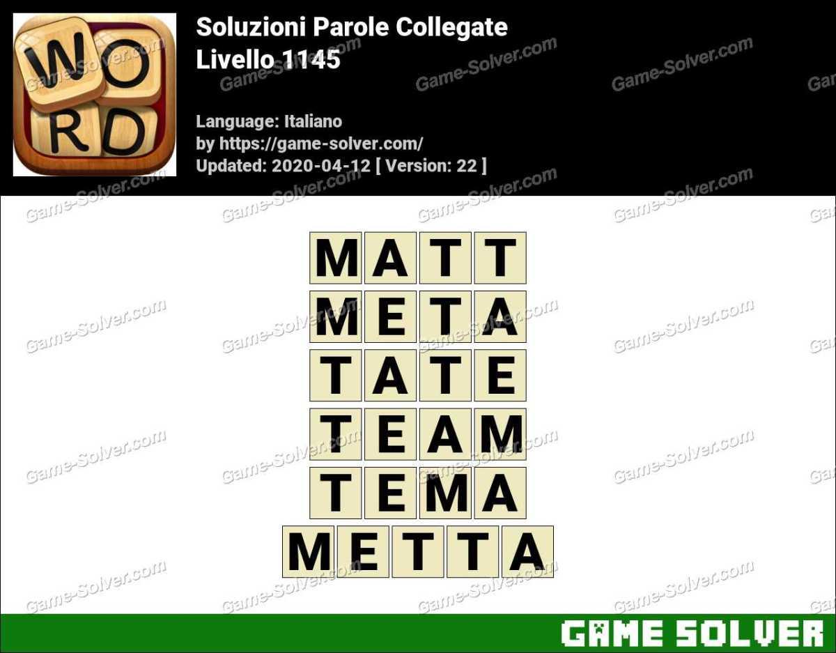 Soluzioni Parole Collegate Livello 1145