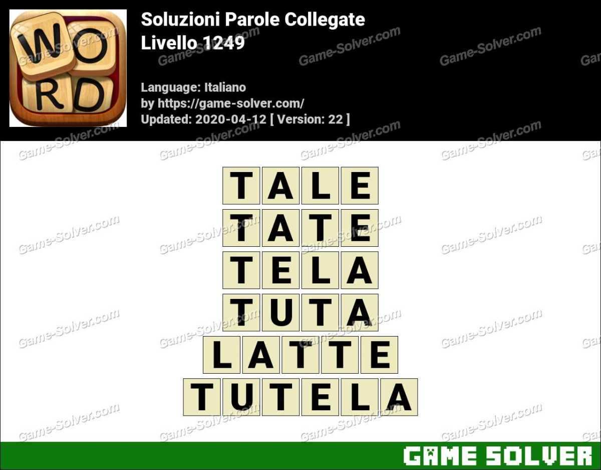 Soluzioni Parole Collegate Livello 1249