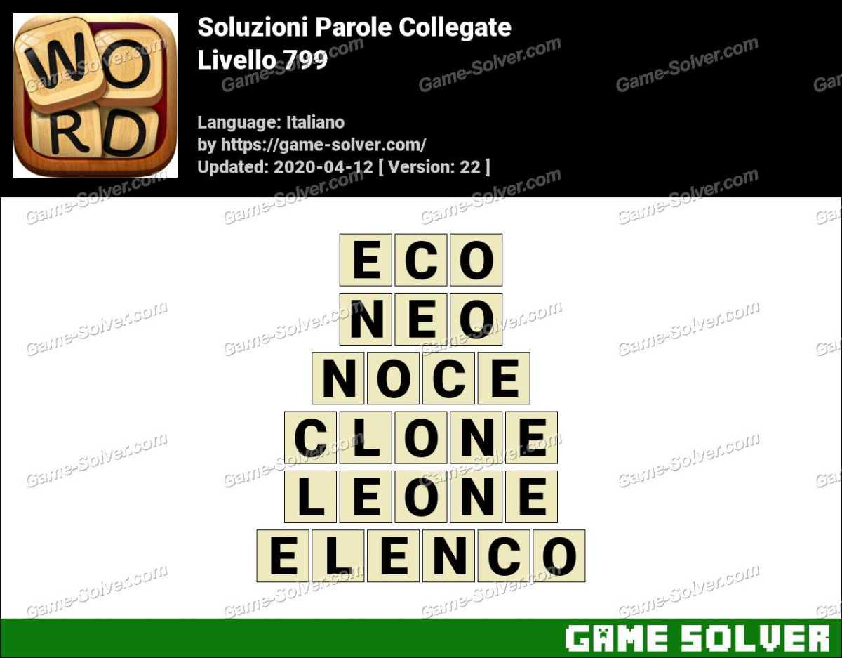 Soluzioni Parole Collegate Livello 799