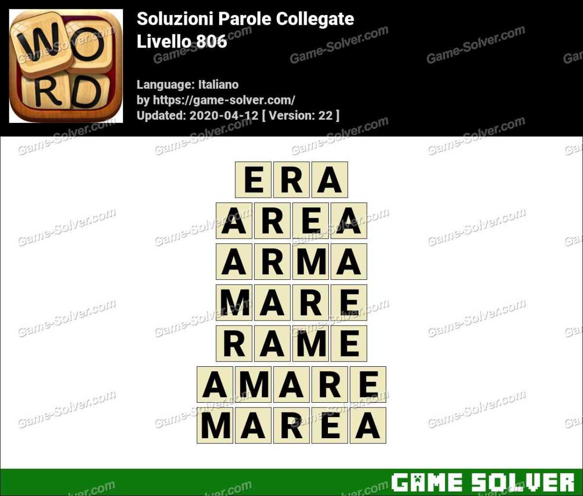 Soluzioni Parole Collegate Livello 806