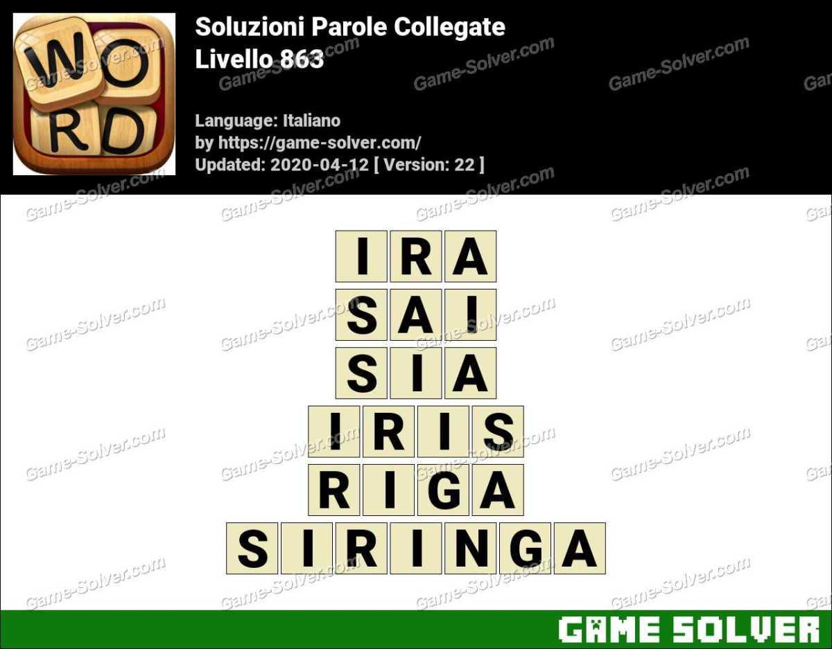 Soluzioni Parole Collegate Livello 863