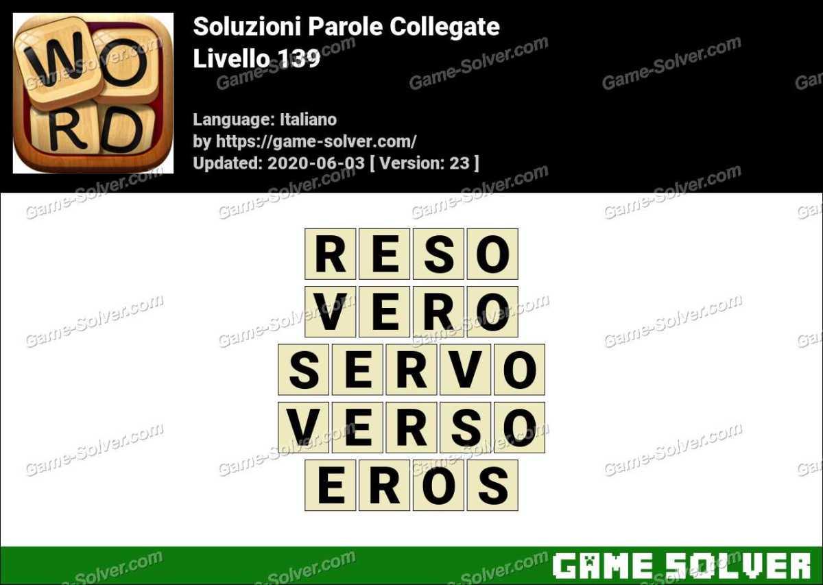 Soluzioni Parole Collegate Livello 139