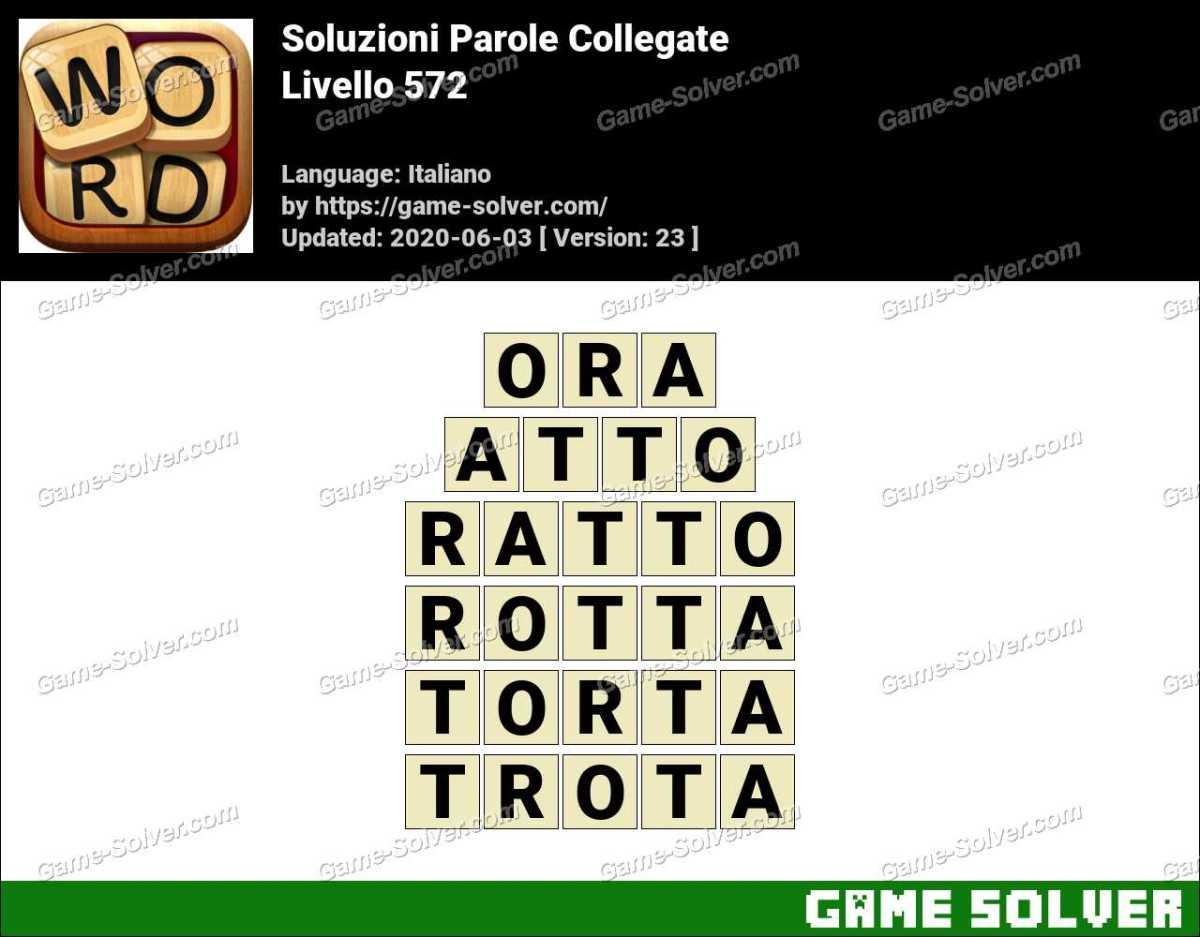 Soluzioni Parole Collegate Livello 572
