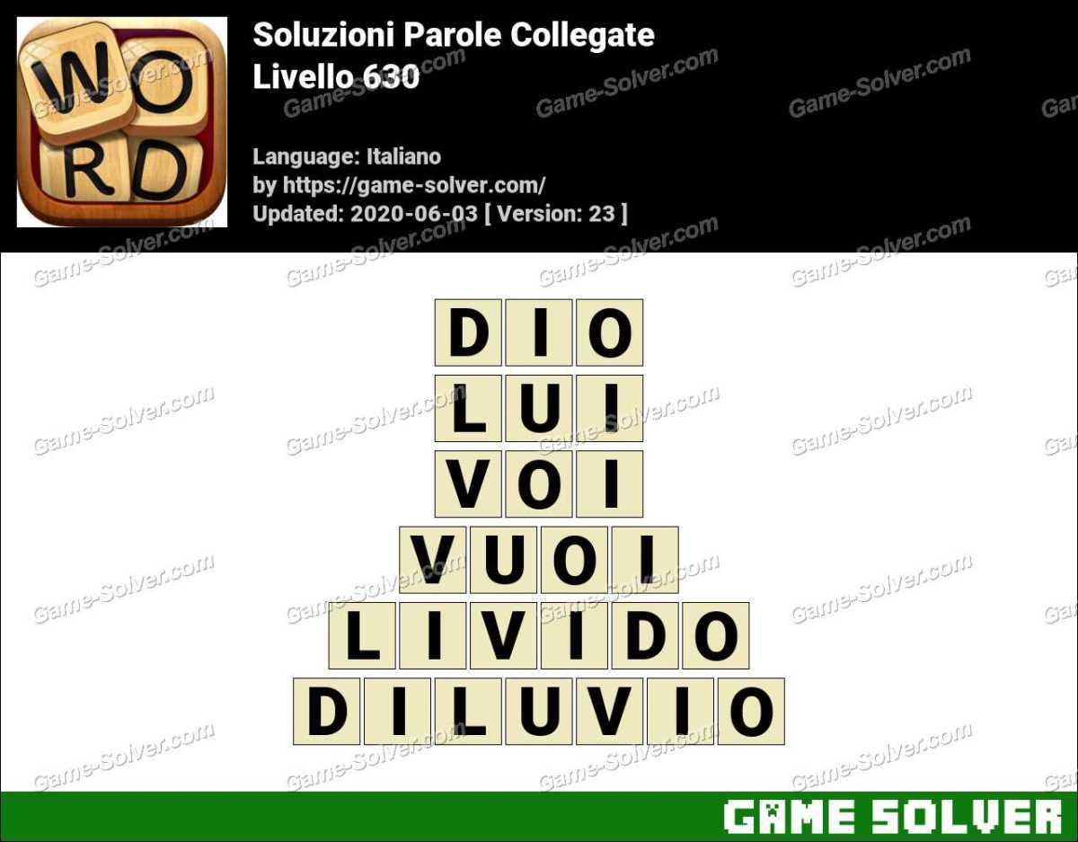 Soluzioni Parole Collegate Livello 630