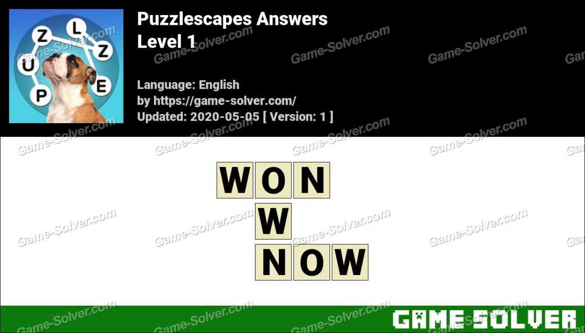 Puzzlescapes Level 1 Answers