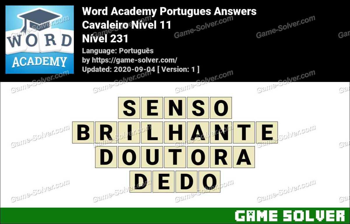 Word Academy Portugues Cavaleiro Nível 11 Answers