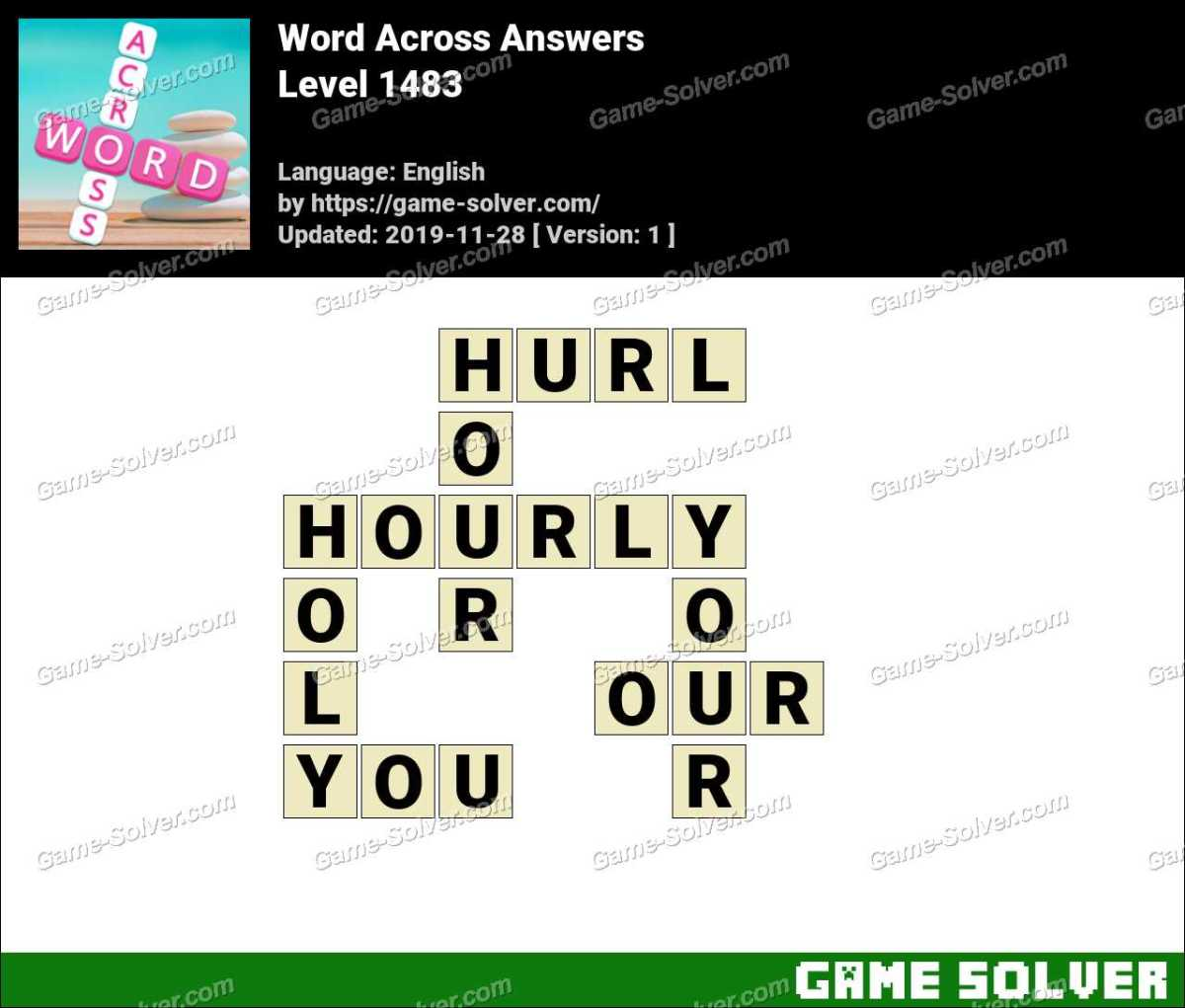 Word Across Level 1483 Answers