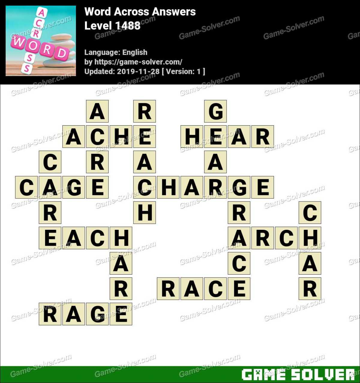 Word Across Level 1488 Answers