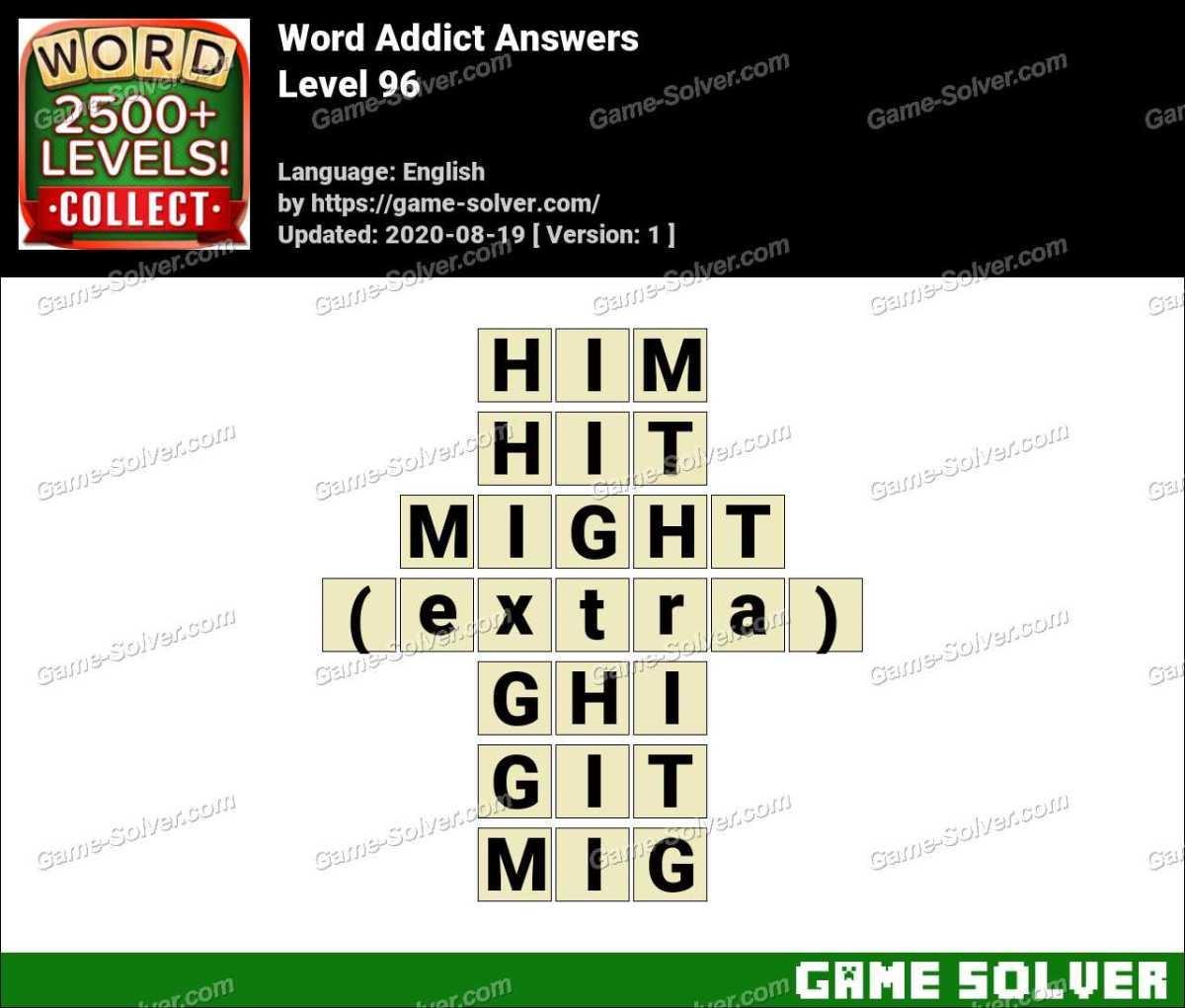 Word Addict Level 96 Answers