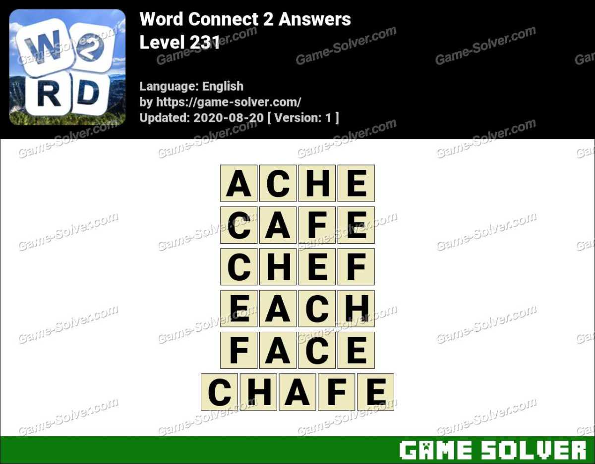 Word Connect 2 Level 231 Answers