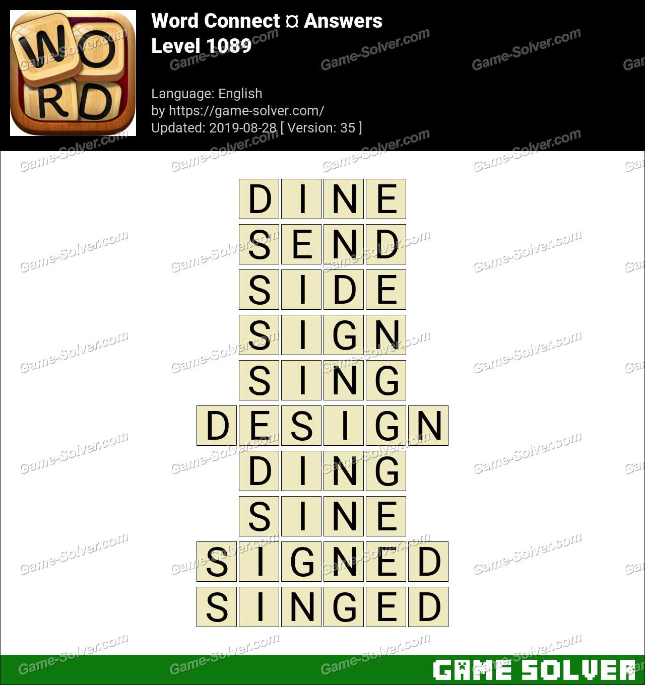 Word Connect Level 1089 Answers