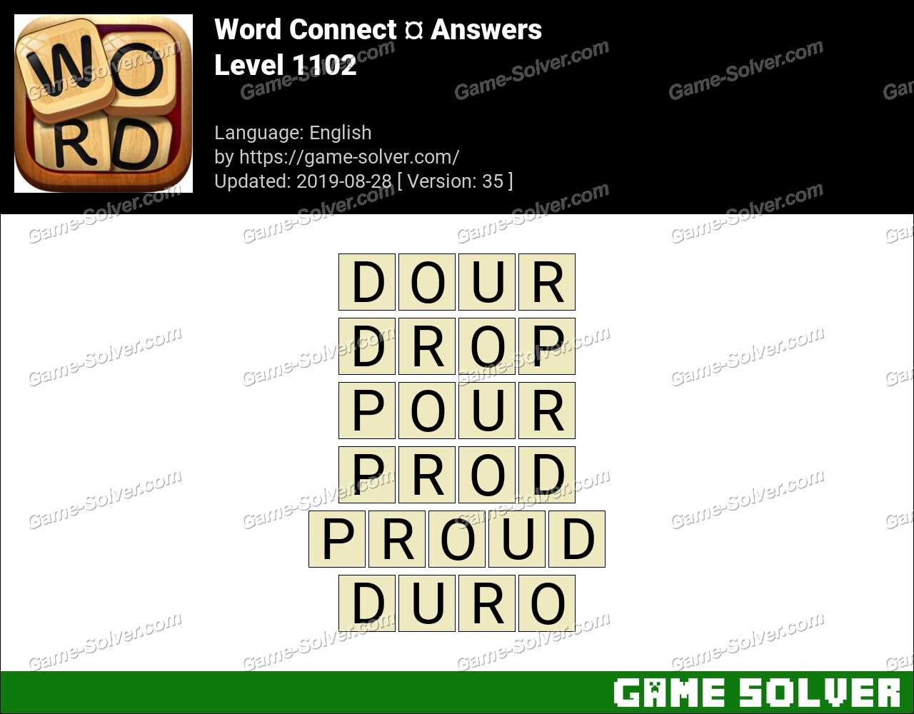 Word Connect Level 1102 Answers