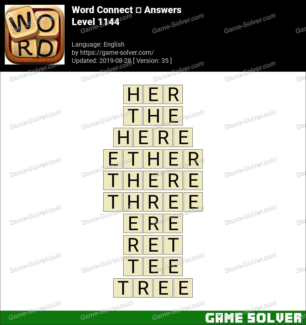 Word Connect Level 1144 Answers