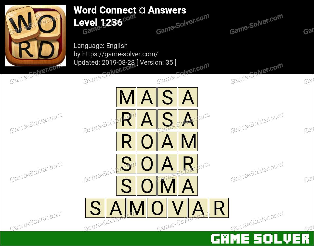 Word Connect Level 1236 Answers