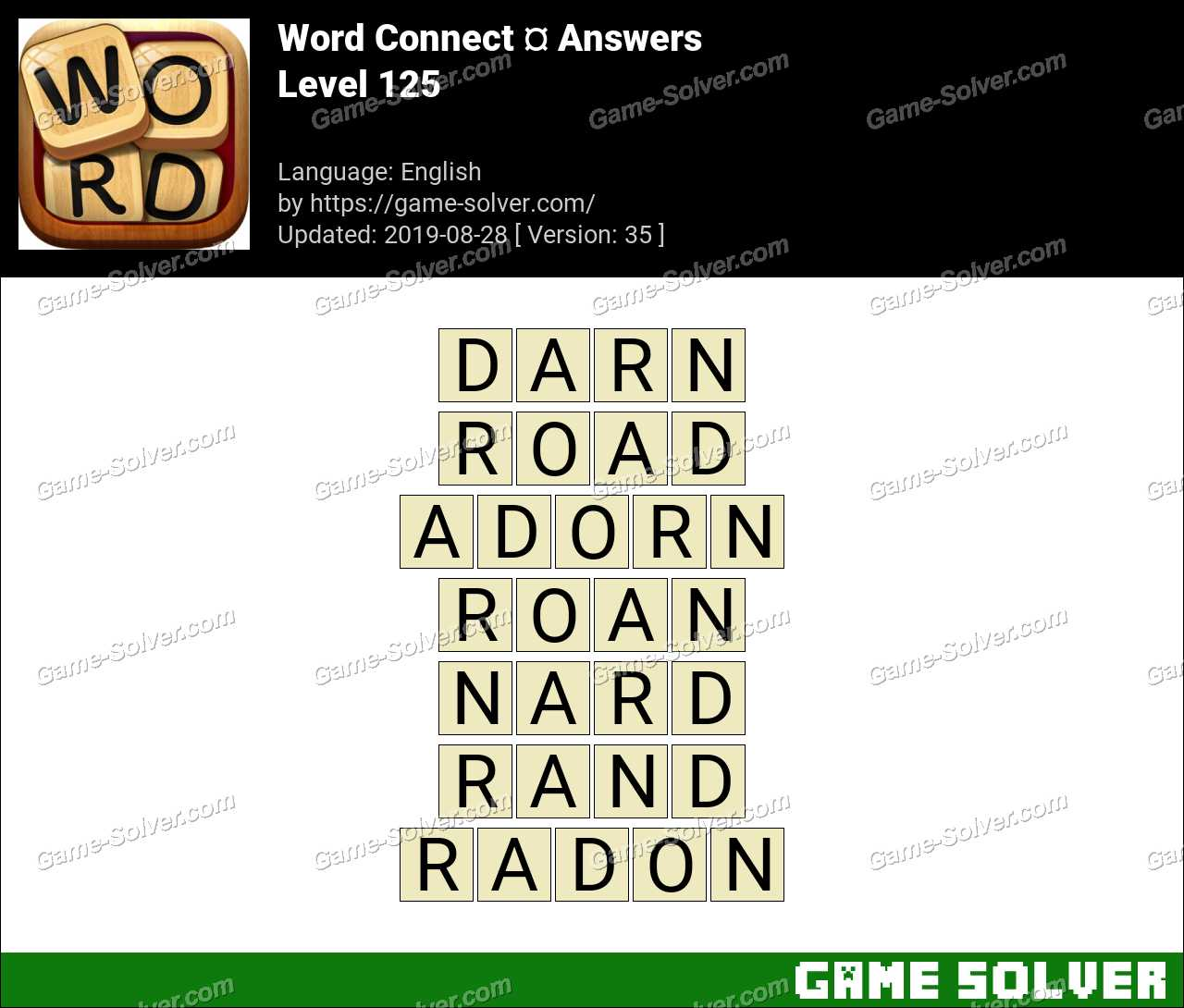 Word Connect Level 125 Answers