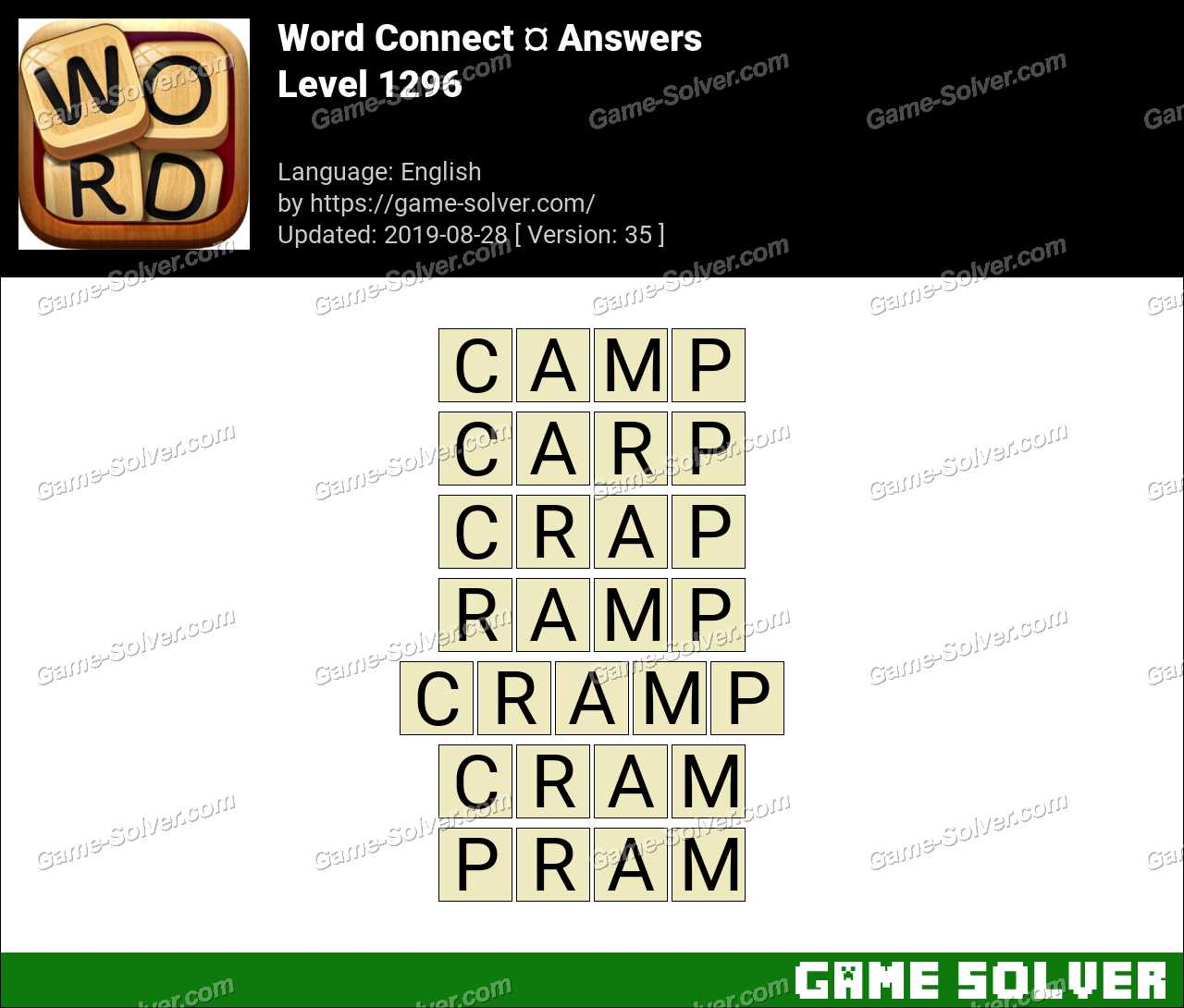 Word Connect Level 1296 Answers