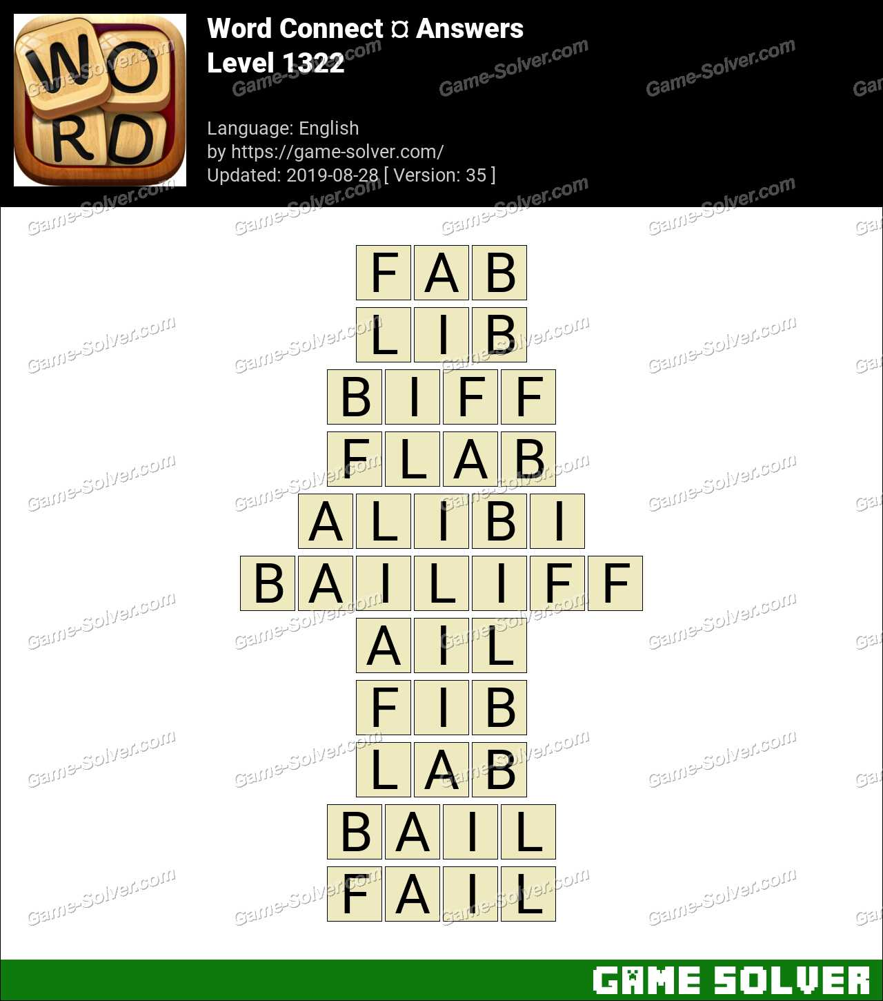 Word Connect Level 1322 Answers