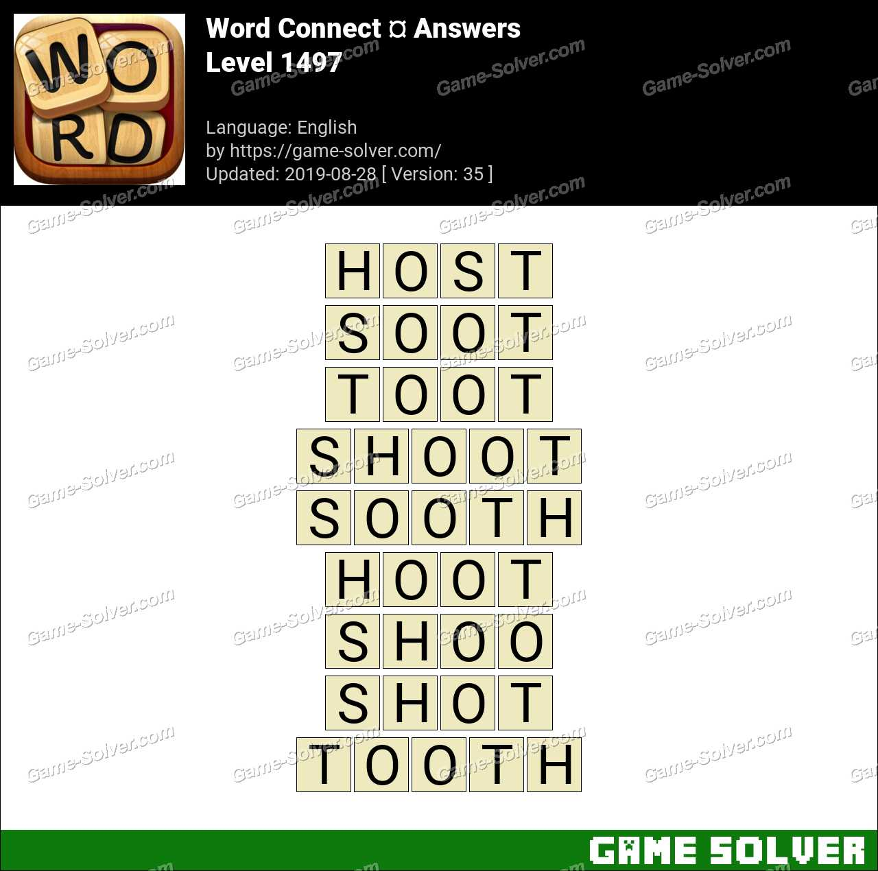Word Connect Level 1497 Answers