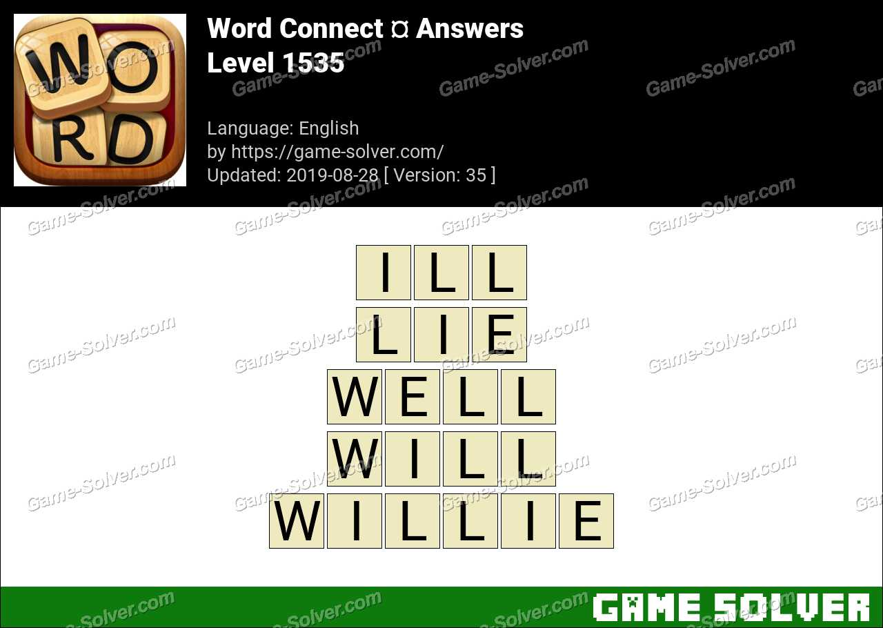Word Connect Level 1535 Answers