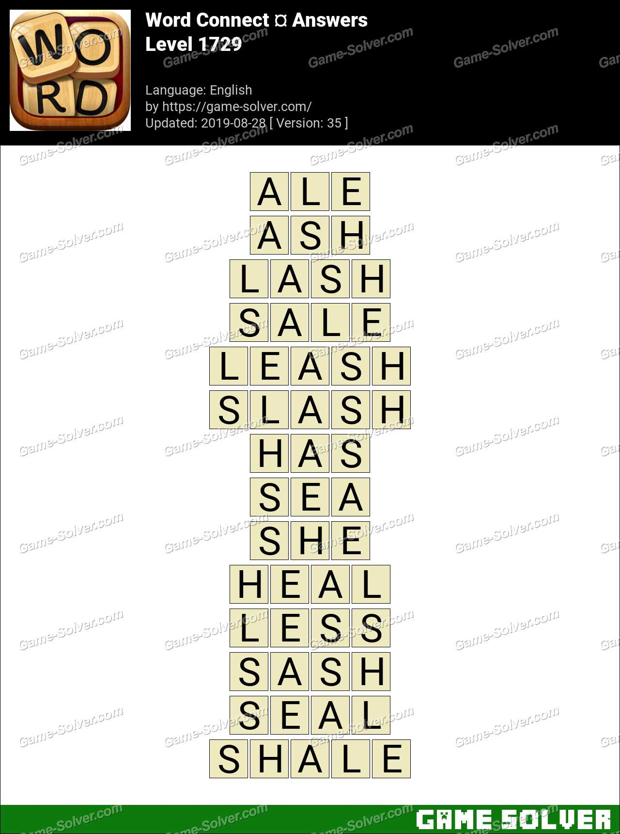 Word Connect Level 1729 Answers