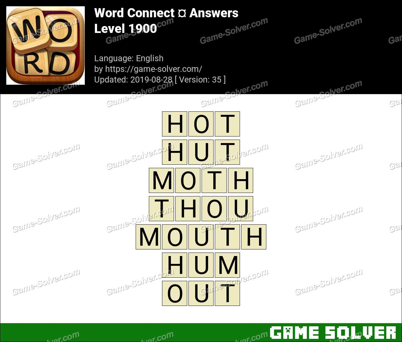 Word Connect Level 1900 Answers