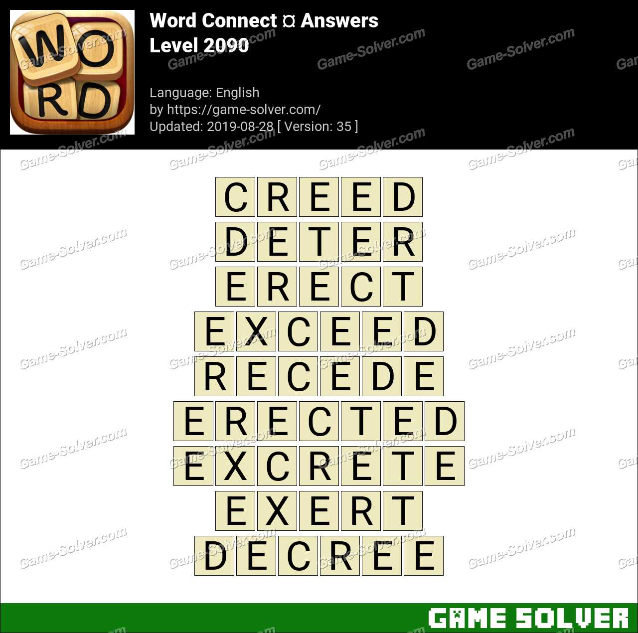 Word Connect Level 2090 Answers