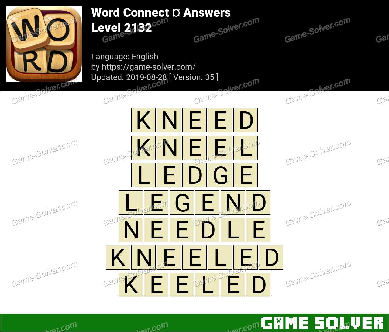 Word Connect Level 2132 Answers