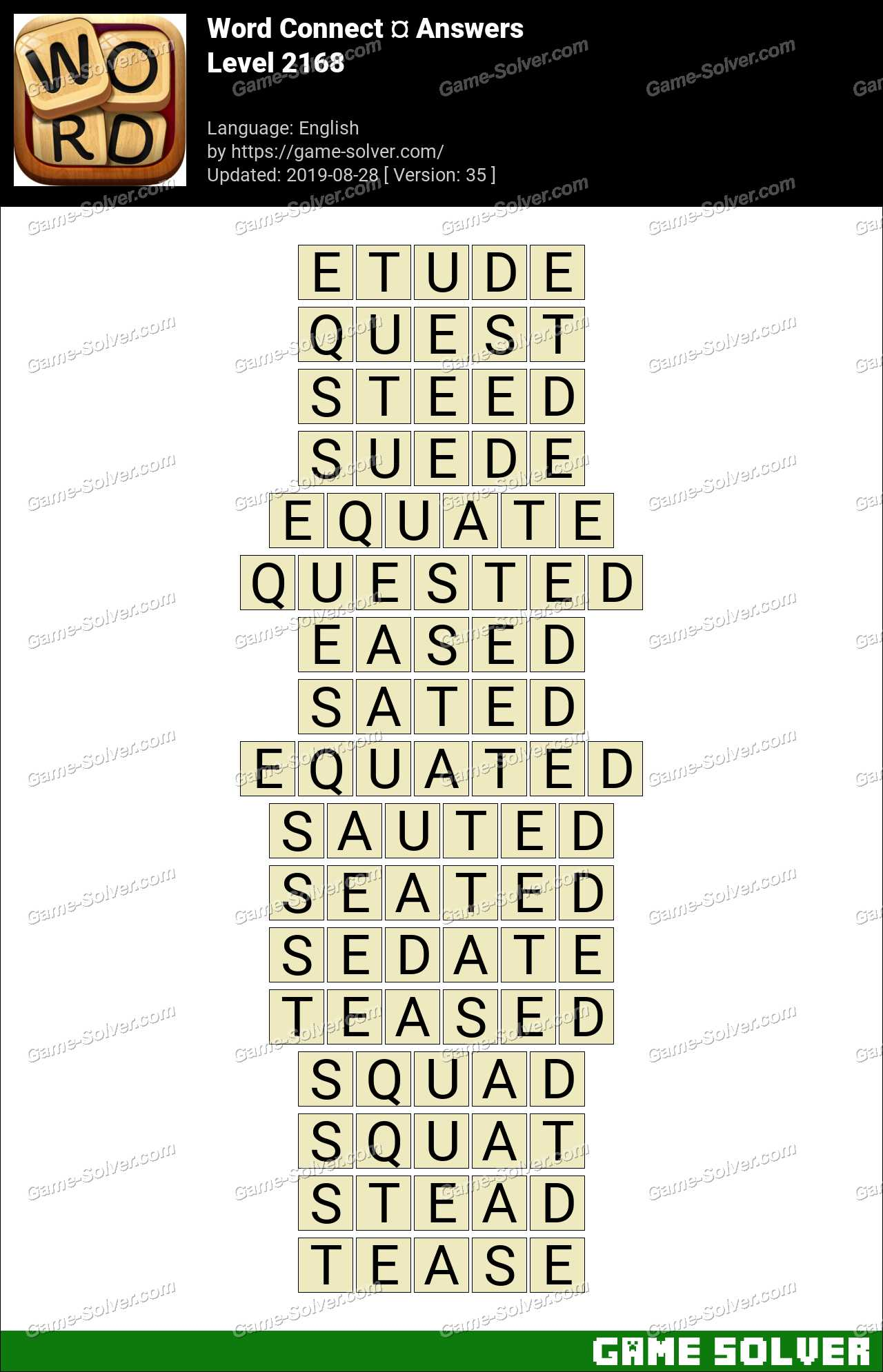 Word Connect Level 2168 Answers