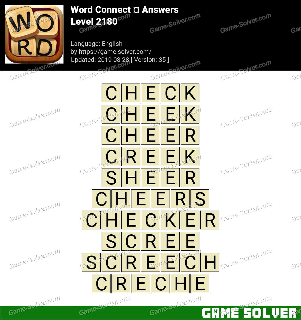 Word Connect Level 2180 Answers