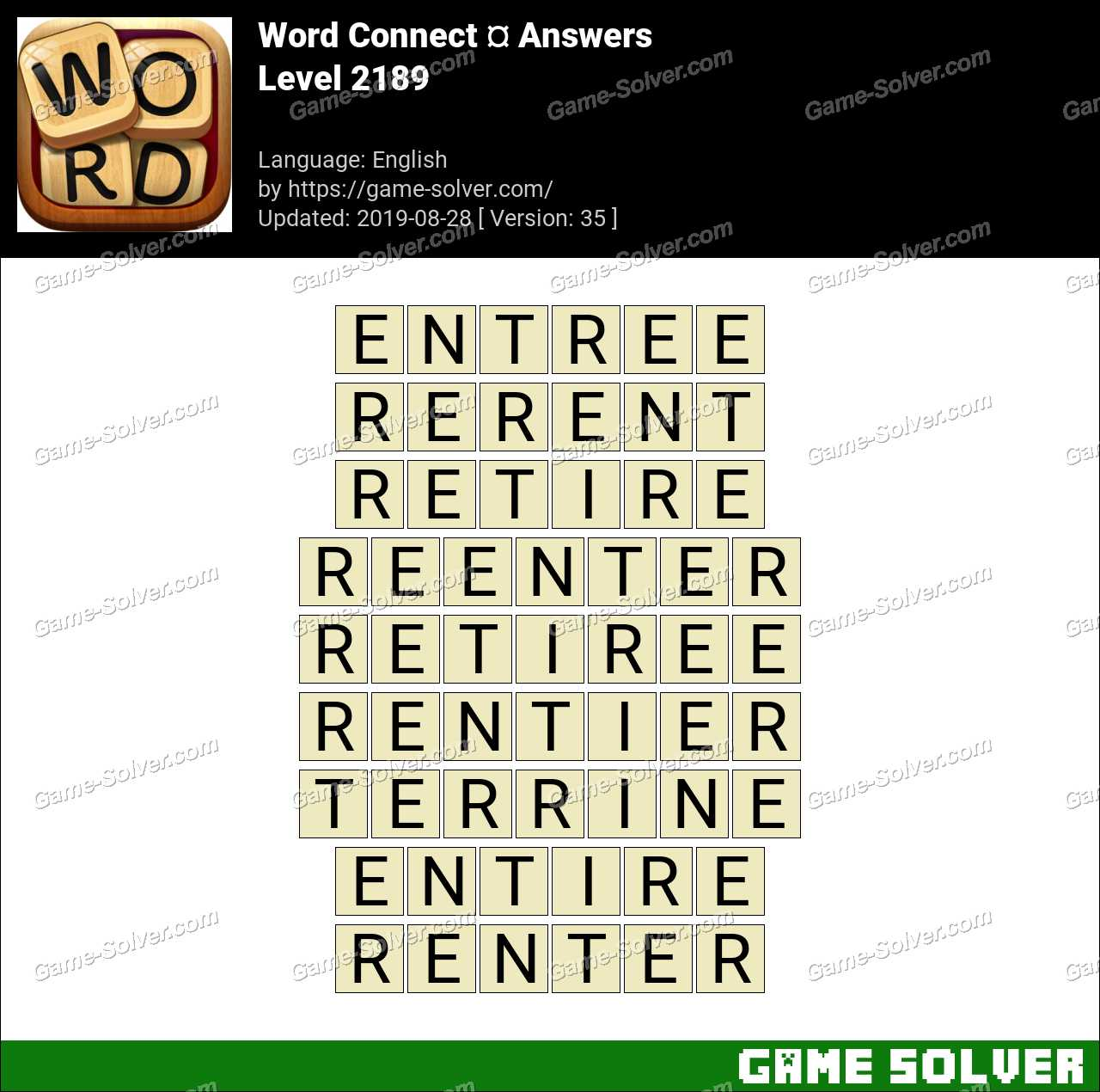 Word Connect Level 2189 Answers