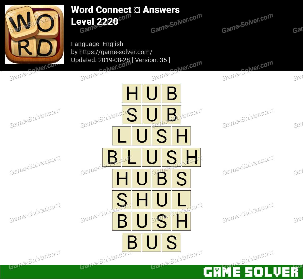 Word Connect Level 2220 Answers
