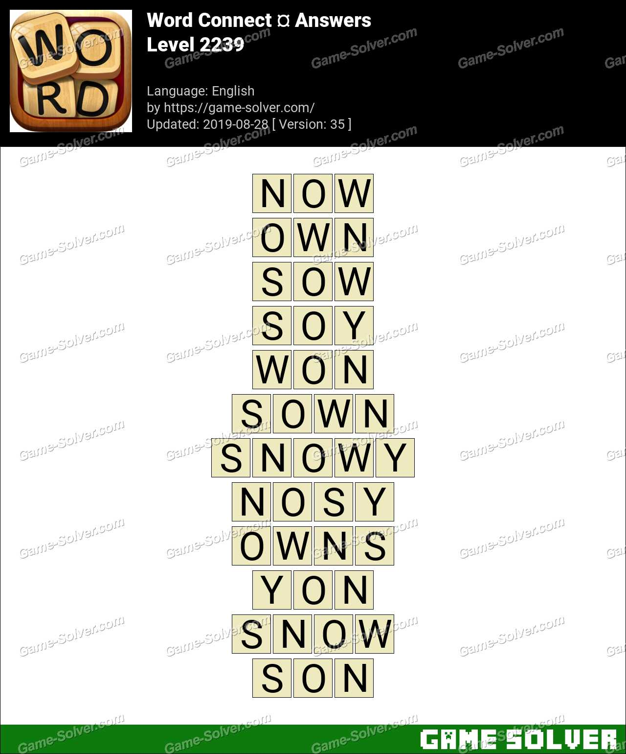 Word Connect Level 2239 Answers