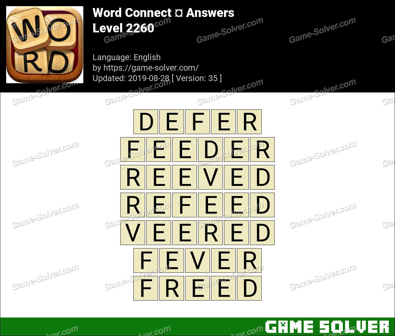 Word Connect Level 2260 Answers