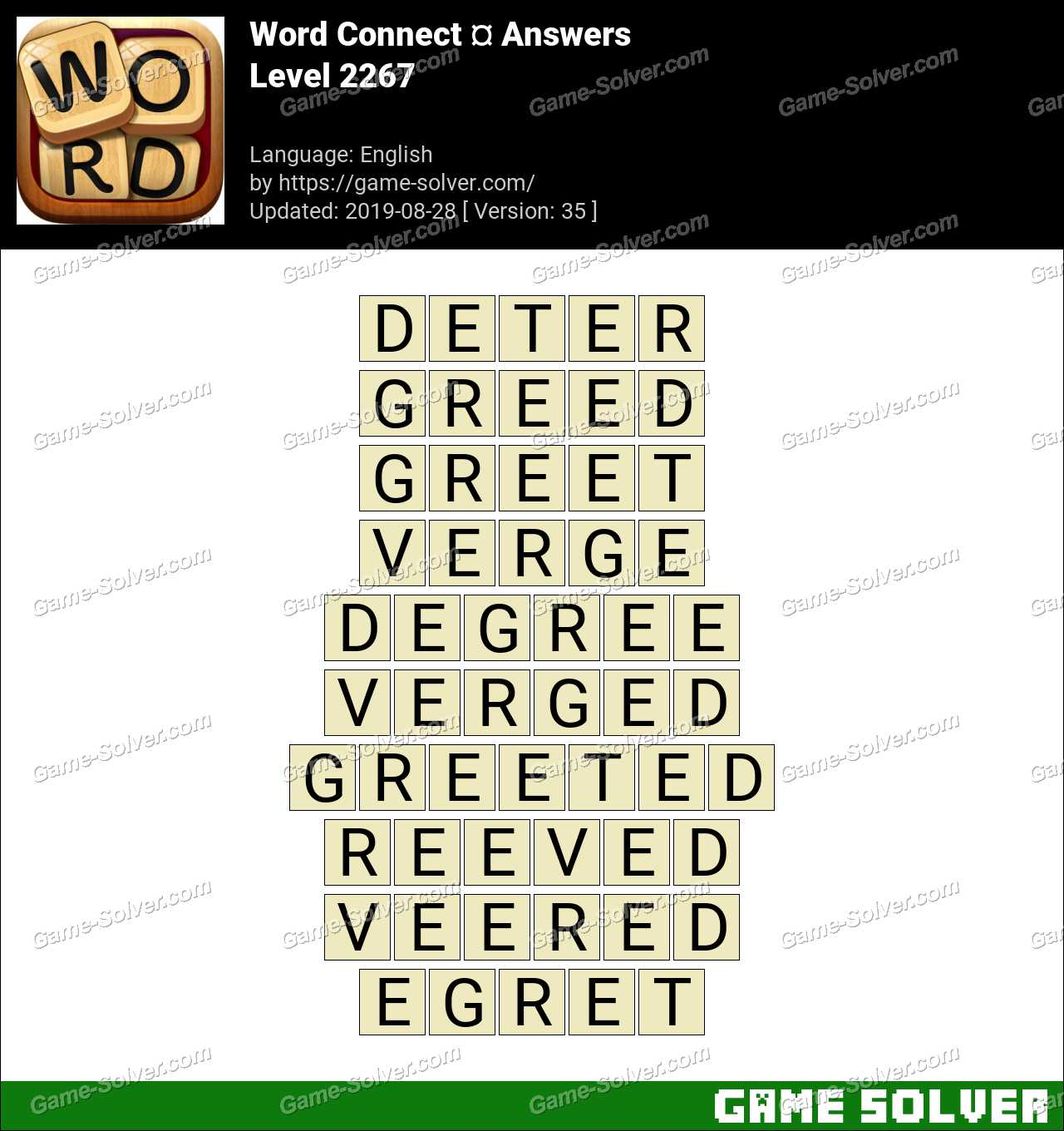 Word Connect Level 2267 Answers