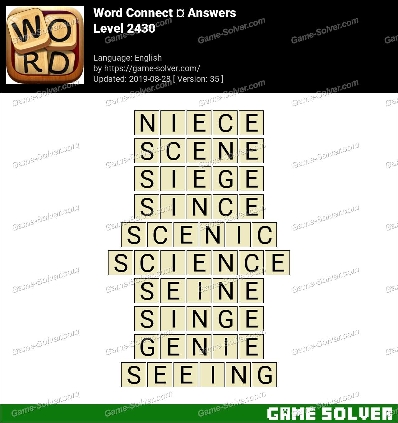 Word Connect Level 2430 Answers