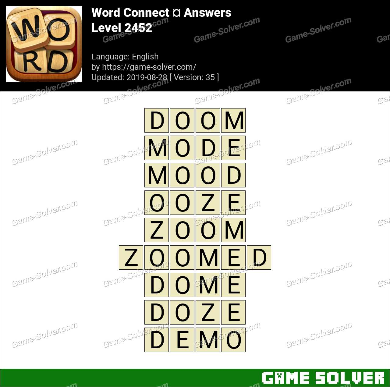 Word Connect Level 2452 Answers