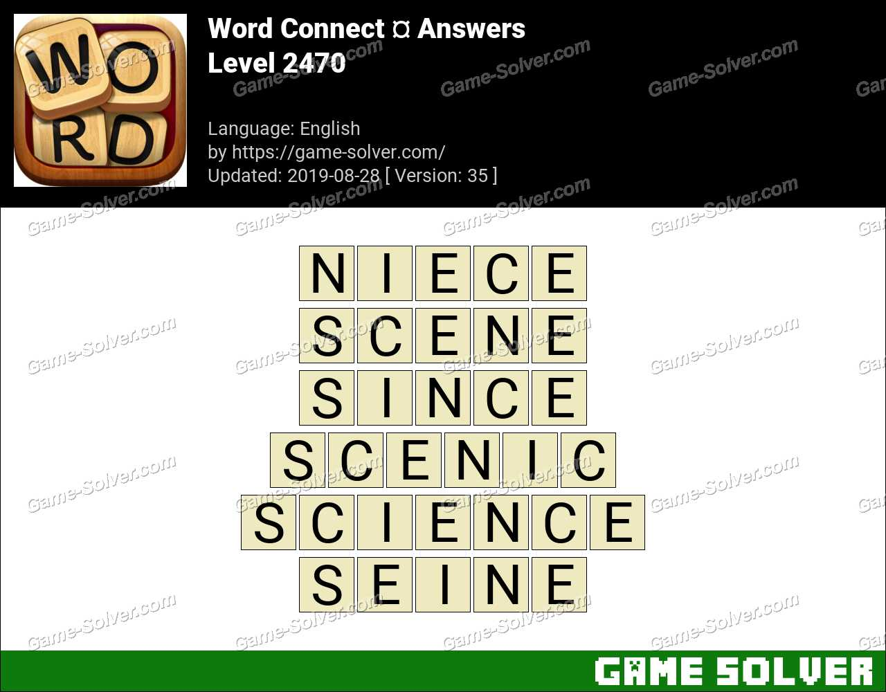Word Connect Level 2470 Answers