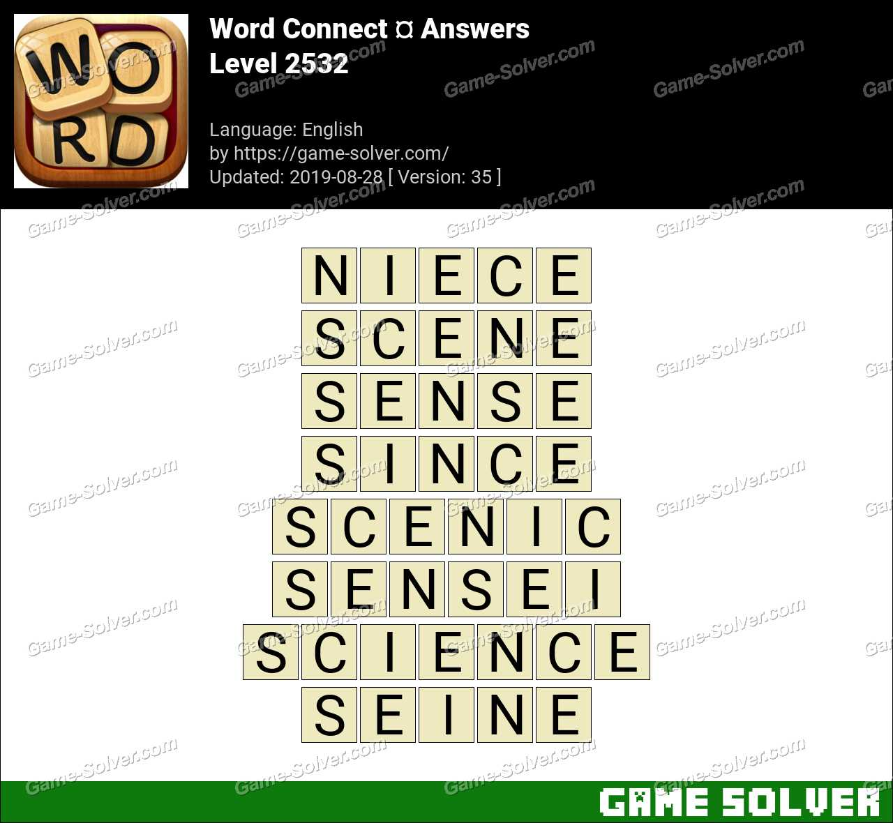 Word Connect Level 2532 Answers