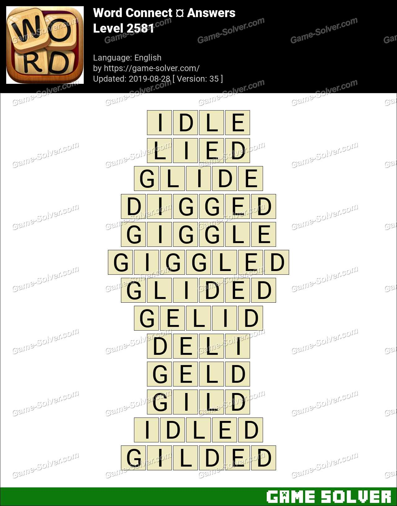 Word Connect Level 2581 Answers