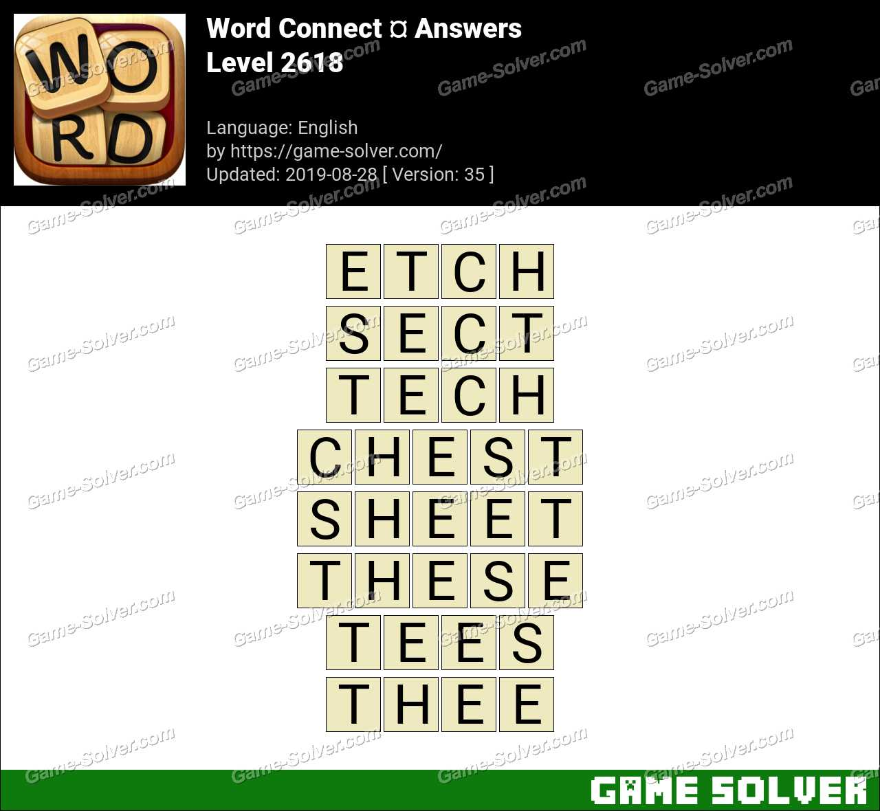 Word Connect Level 2618 Answers
