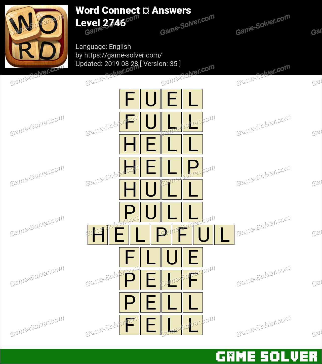 Word Connect Level 2746 Answers