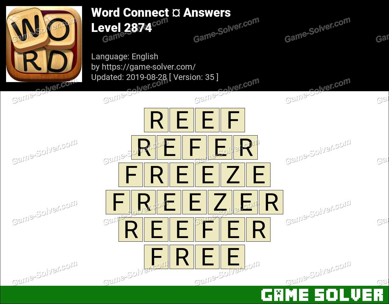 Word Connect Level 2874 Answers