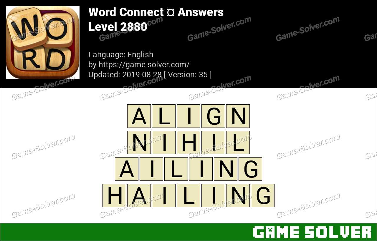 Word Connect Level 2880 Answers