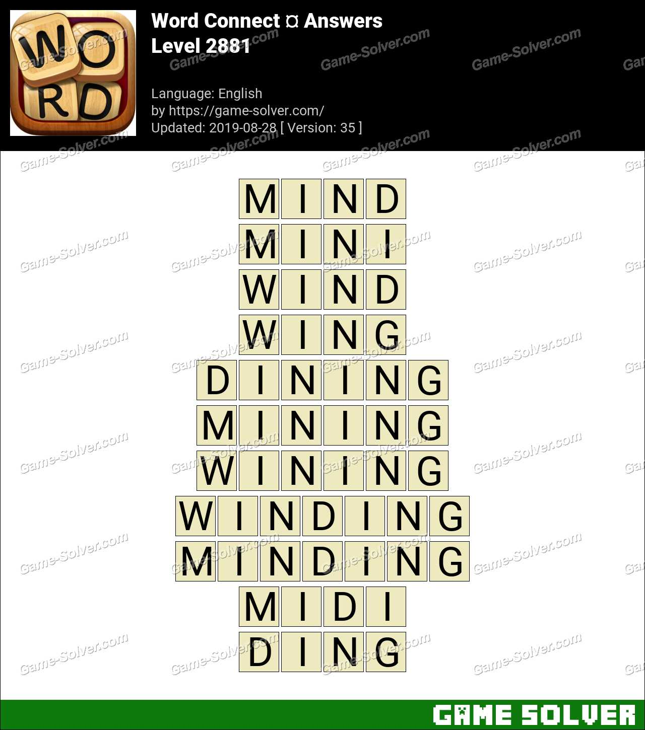 Word Connect Level 2881 Answers