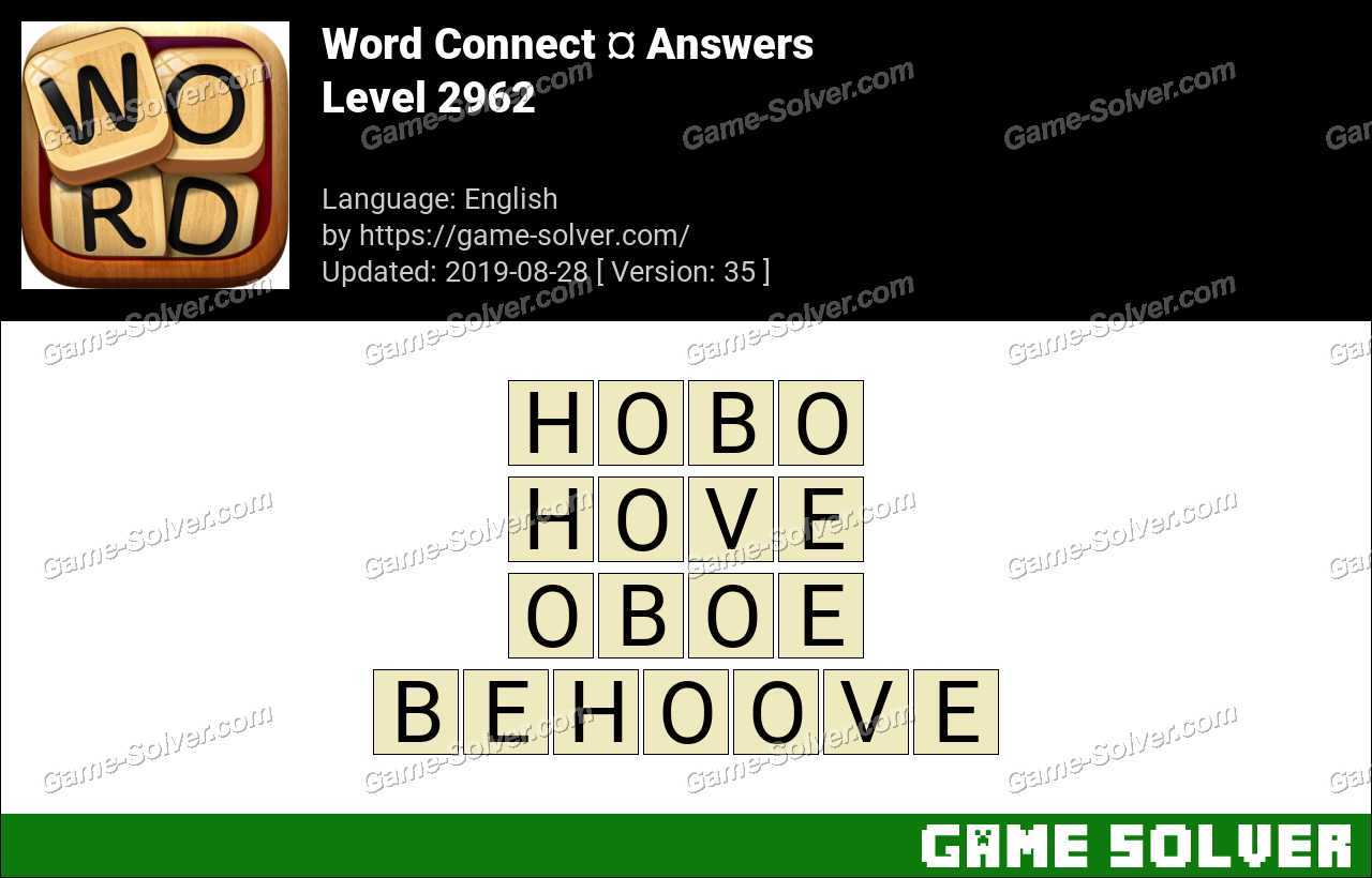 Word Connect Level 2962 Answers