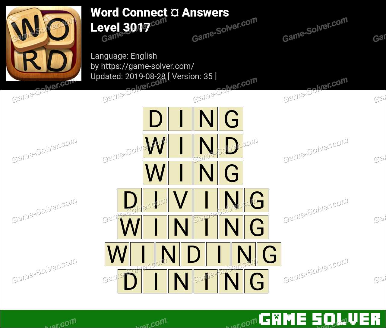 Word Connect Level 3017 Answers