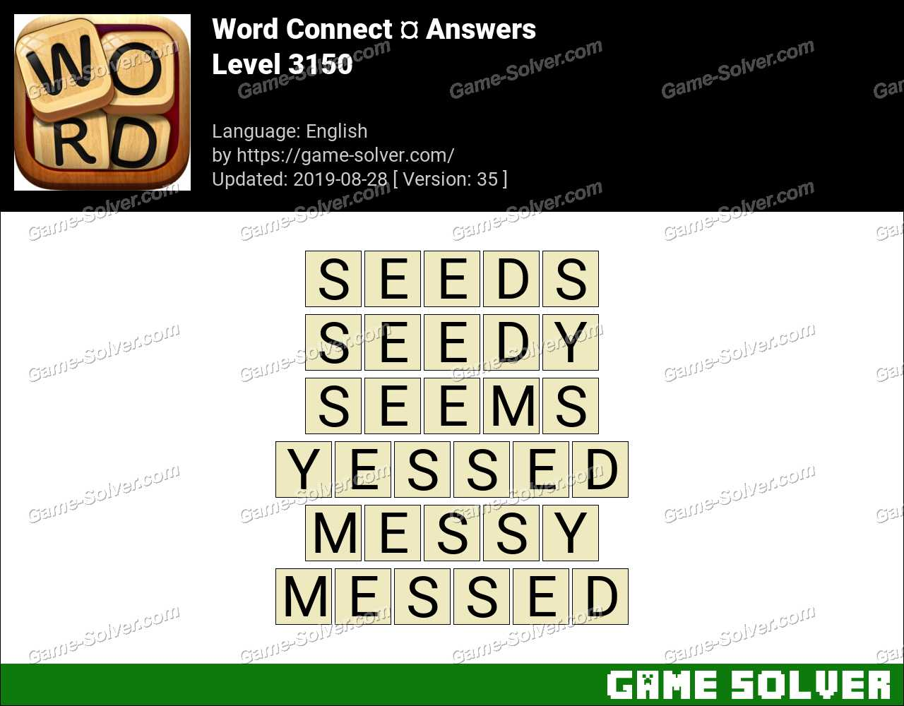 Word Connect Level 3150 Answers