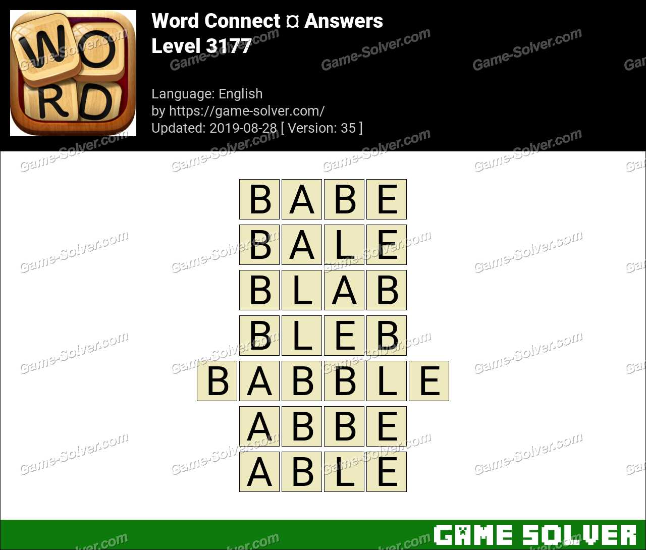 Word Connect Level 3177 Answers
