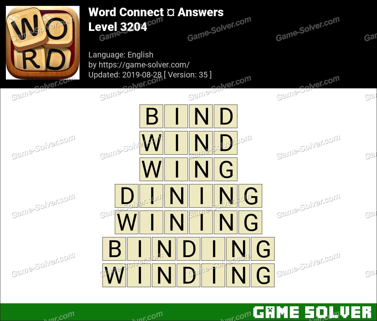 Word Connect Level 3204 Answers